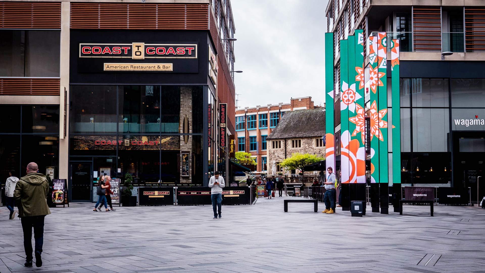 Beacons Highcross LED Art Installation in City Centre