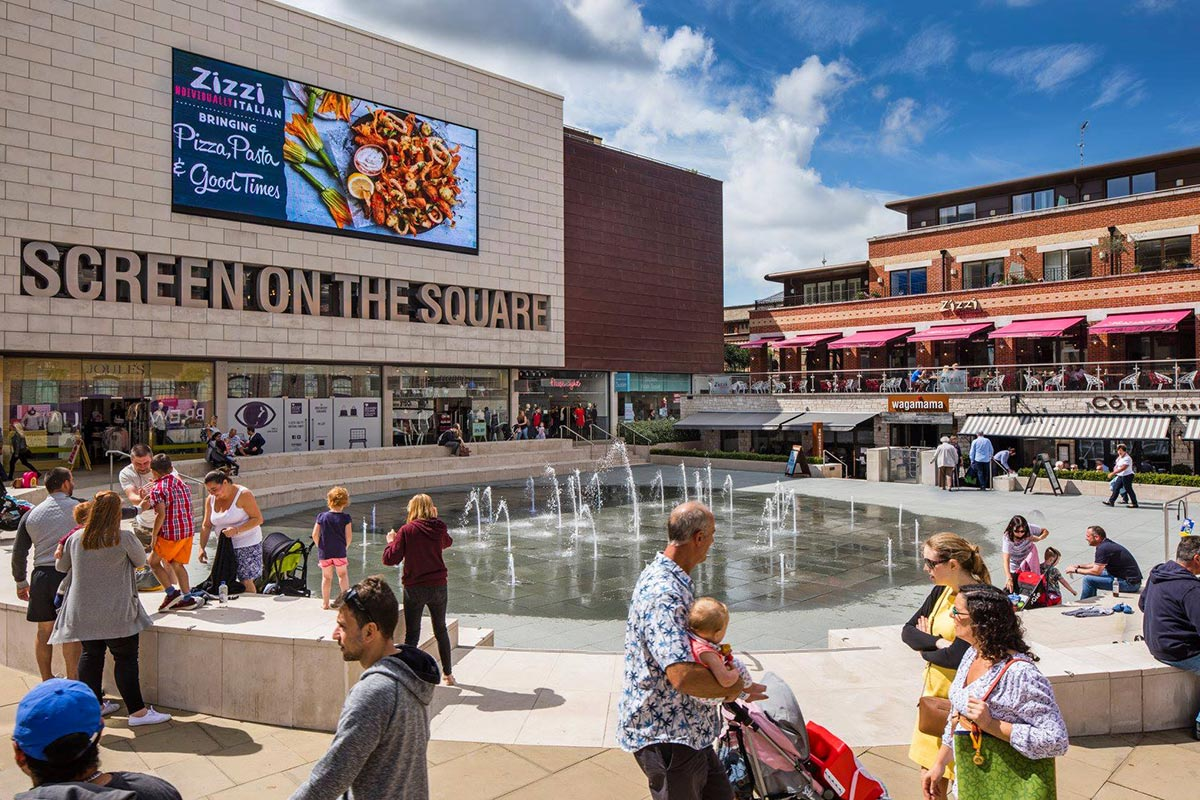 Brewery Square DOOH Large Outdoor LED Screen