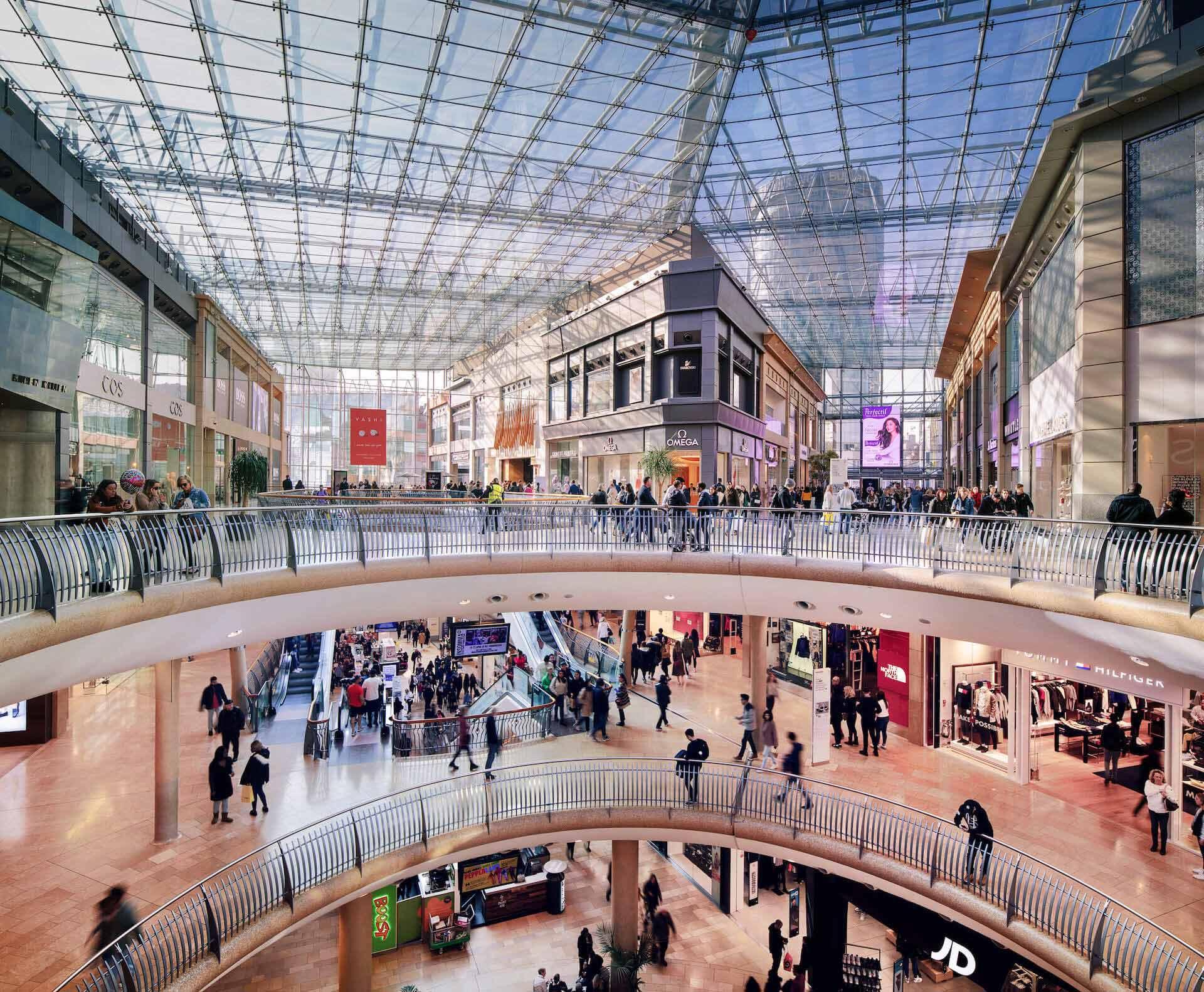Bullring & Grand Central Birmingham Shopping Centre DOOH Indoor Screens
