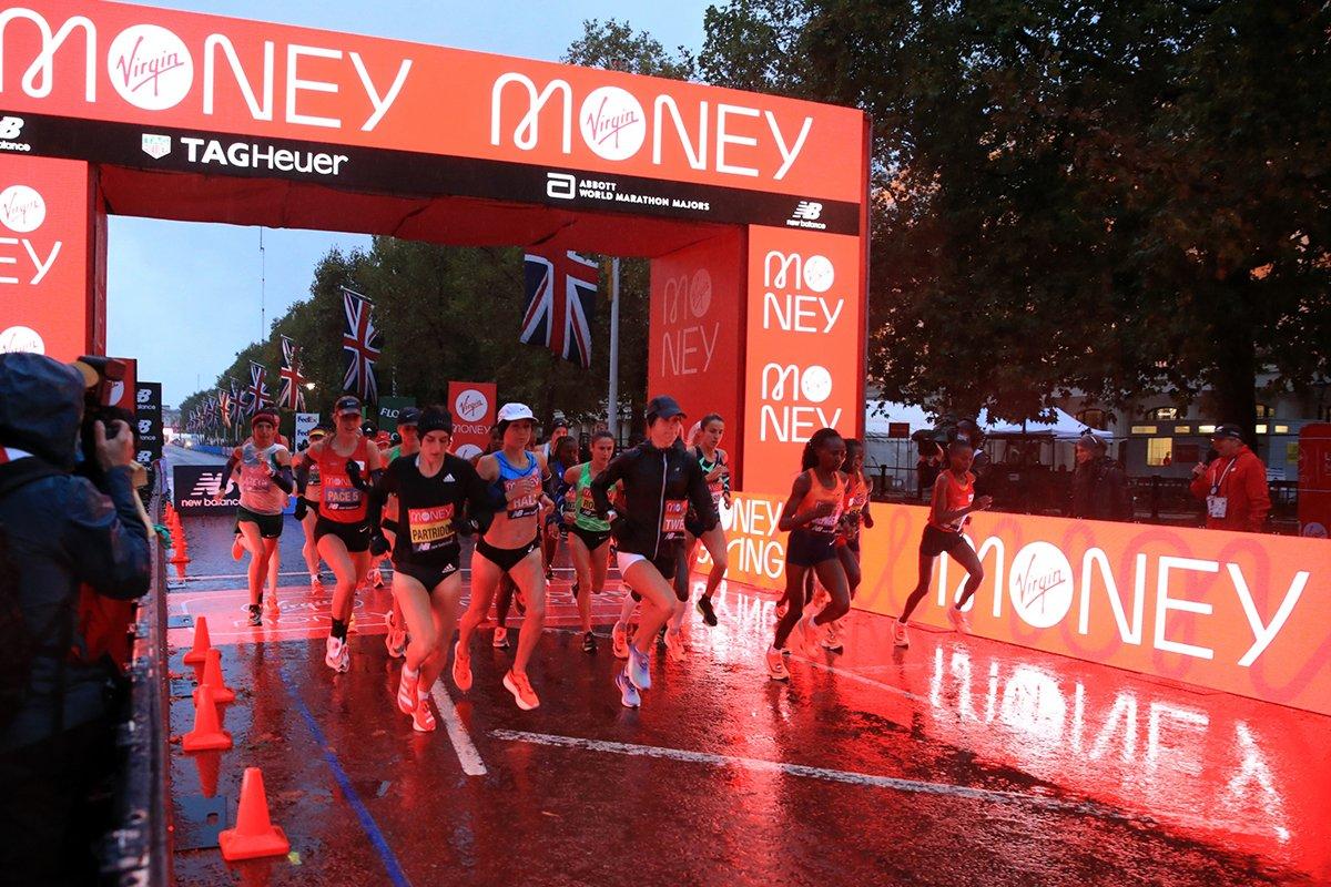 London Marathon 2020 - gantry and digiboard