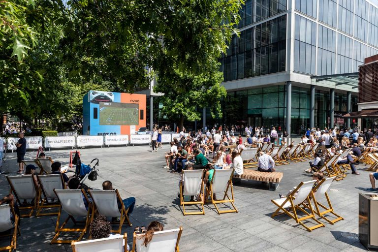 Summer Screens - LED Screens showing sports in City centre
