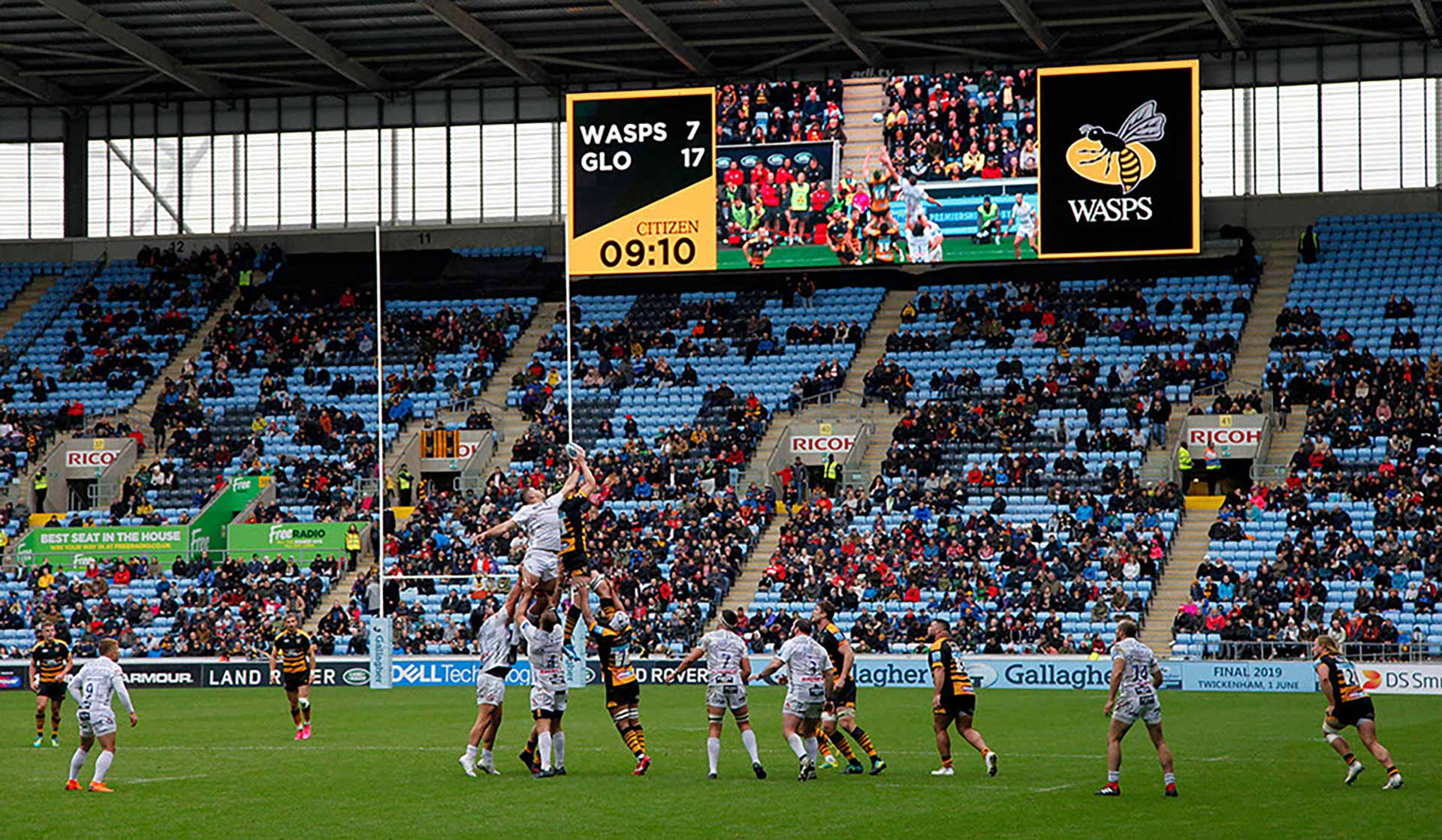 Wasps Rugby Ricoh Stadium Big Screen