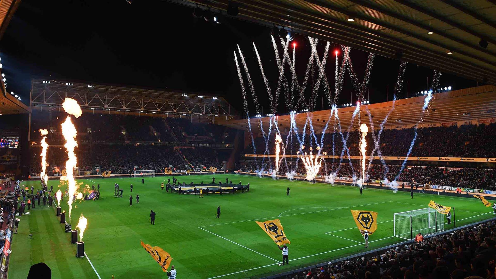 Wolves Stadium Molineux Palace Fireworks